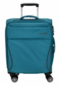 Slazenger SZ1108 Expandable Soft Spinner Case Luggage 18-inch (Green/Dark Grey)