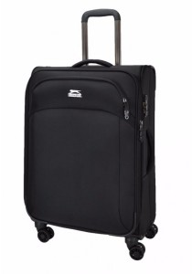 Slazenger SZ1109 Expandable Soft Spinner Case Luggage 24-inch (Black)