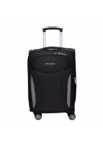 "Slazenger SZ1111 Soft Spinner Case Expandable Luggage 25"" (Black-Grey)"
