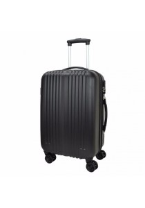 Slazenger SZ2512 ABS Expandable Spinner Case Luggage 24-inch (Black)