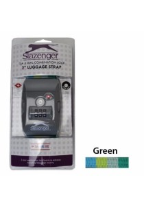 "Slazenger SZ7085 Luggage Strap 2"" TSA Lock (Green)"