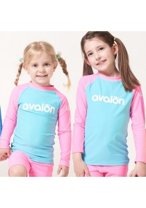 Avalon Rash Guard Swimwear (Pink, Two-Pieces)