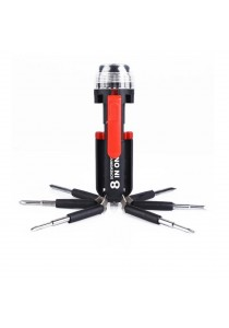 8 in1 Professional Tools Multi Screwdriver Set   with 6 LEDs Power Torch.