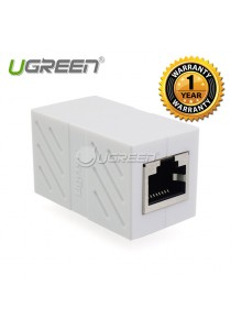 1 x UGREEN 20311 RJ 45 Network Keystone Jack In-Line Coupler Female to Female - 20311 (White)