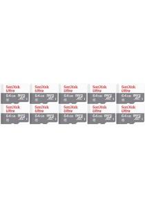 Sandisk 64GB Ultra microSDHC (SDSQUNB-064G-GN3MN-10U) - 10 Units