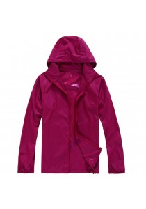Unisex Lightweight & Breathable Sport Jacket Purplish red