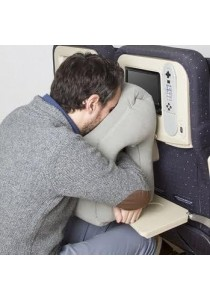 Air Travel Pillow - Inflatable Travel Pillows For Airplanes, Portable Office Napping Pillow