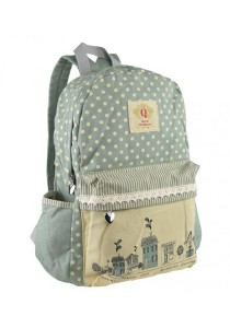 Royal McQueen Korean Stylish Casual Backpack QBP645 Blue