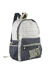 Royal McQueen Korean Stylish Casual Backpack QBP646 Blue