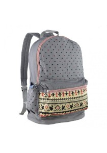 Royal McQueen Korean Stylish Casual Backpack QBP651 Grey
