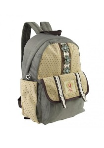 Royal McQueen Korean Stylish Casual Backpack QBP652 Beige