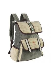 Royal McQueen Korean Stylish Casual Backpack QBP653 Beige