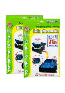 Universal Traveller Luggage Vacuum Bag - Set of 2 x 2 Bags (50 x 70cm) & (56 x 90cm)