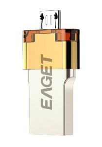 [OEM] EAGET V80 USB 3.0 32GB Waterproof OTG Flash Drive (Silver)