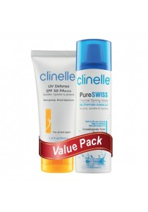 Value Pack: UV Defense SPF50 & PureSwiss Spring Water