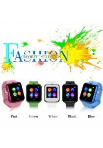 V88 Bluetooth Smart Watch Phone With Heart Rate Pulse Monitor For Android Phone