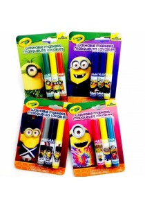 Crayola Minions The Movie Washable Markers-Set of 4