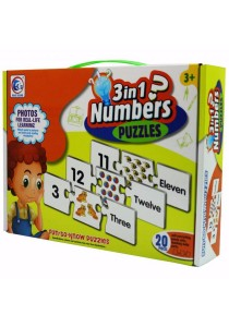 Fun To Know Puzzles Games 3 in 1 numbers - 2091A