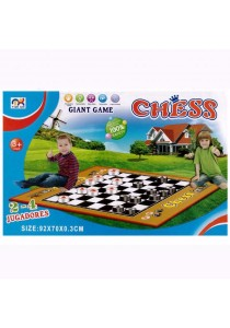 Giant Floor Mat Board Game 2 in 1 Chess & Cheacker - 3308