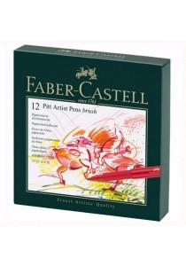 Faber-Castell 12 Pitt Artist Pens Brush - 167146