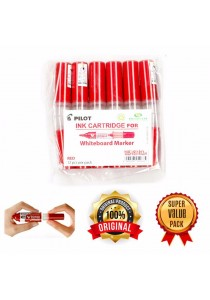 Pilot Ink Cartridge for Whiteboard Marker Red (12pcs Per Pack) -R12H