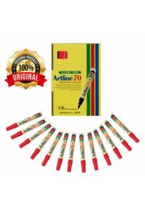 Artline 70 Permanent Marker 1.5mm Red (Box of 12pcs) -801532