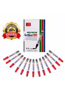 Artline 90 Permanent Marker 2-5mm Red (Box of 12pcs) -802560