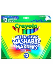 Crayola Ultra-Clean Washable Markers 12 Assorted Colors
