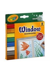 Crayola Window 8 Markers - 588165
