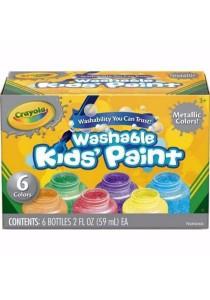 Crayola Washable Kid's Paint 6's Metallic Color
