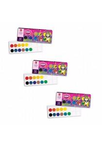 MasterArt Premium Grade Water Colour Cake 12 Colours (Set of 3)-077341