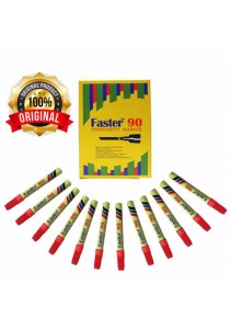 Faster 90 Permanent Marker Red (Box of 12pcs) -M-F-90