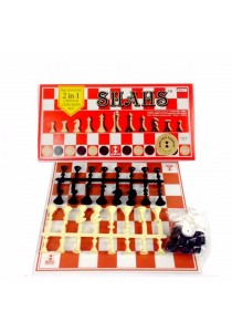 SPM 87 Shahs Beginner 2 in 1 Chess & Checkers Set