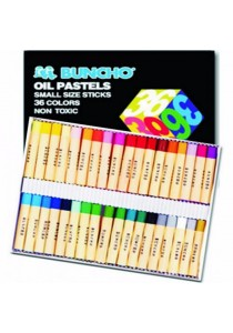 Buncho Oil Pastels Small Size Sticks 36 Colours-110366
