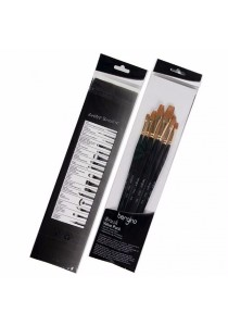 Bergino 703A Flat Art Brush Set (For Acrylic Oil Gouache Artist Painting)