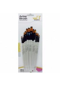 Bomega 0017B Flat Art Brush (Nylon Hair)