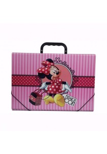 Campap Document Case Minnie Mouse Striped Pink - MK24982M