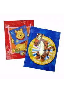 Campap A4 Ring File (S) Winnie The Pooh Dark Blue + Red (Set Of 2)- WP21956M