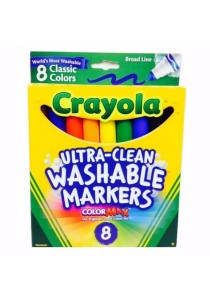 Crayola Ultra-Clean Washable Markers 8 Classic Colors - 587808