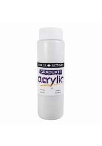 Daler-Rowney Graduate Acrylic 500ml Paint Ink Bottle - Pearl White (123500020)