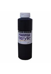 Daler-Rowney Graduate Acrylic 026 Paint Ink Bottle - Black 500ml