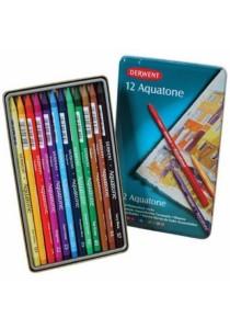 Derwent Aquatone Solid Watercolour Sticks 12 Colors 0700173