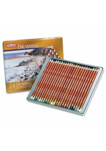 Derwent 0700672 Drawing Colored Pencil Tin of 24