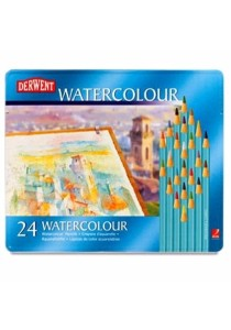 Derwent 32883 Watercolor Pencils Tin of 24