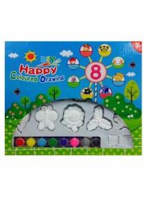 DIY Ceramic Model Painting Set for Kids 15pcs Garden White Color-HY001