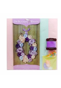 Eno Greeting DIY Blooming Wreath BW01 Oval (Violet)