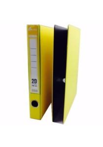 EMI 2D Ring File 25mm Col Foam (Set Of 2) Yellow
