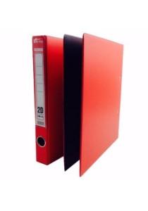 EMI 2D Ring File 25mm Col Foam (Set Of 2) Red