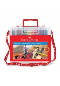 Faber-Castell Classic Colour Pencils 36 Colour + 2B Pencil & Sharpener Wonder Box 114576