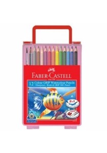 Faber-Castell 114582 Grip Water Colour Pencil Wonder Box (12 Colors)